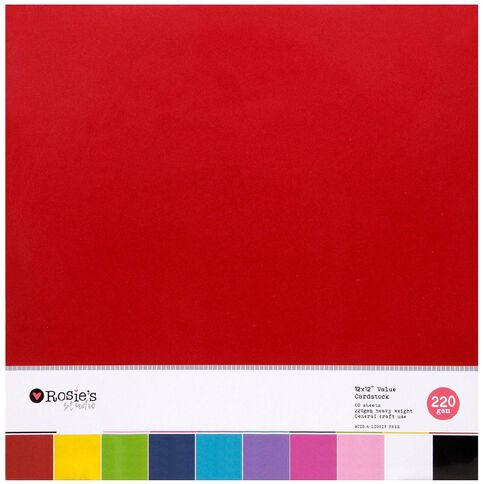 Rosie's Studio Value Cardstock Smooth 220g 60 Sheet Brights
