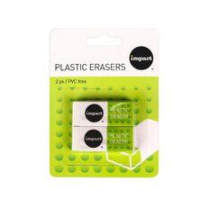 Impact Vinyl Eraser 2 Pack White