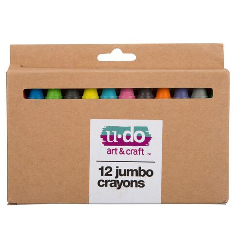 U-Do Jumbo Crayons 12 Pack