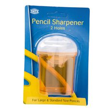 Pencil Sharpener 2 Hole Barrel Multi-Coloured