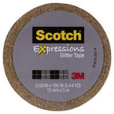 Scotch Craft Glitter Tape 15mm x 5m Gold