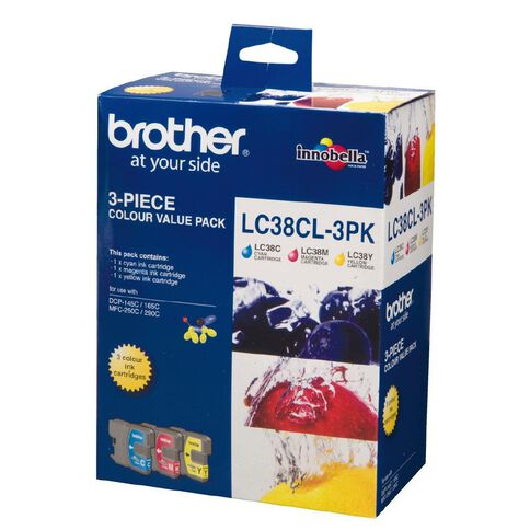 Brother Ink Cartridge LC38 3 Pack