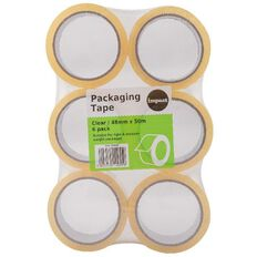 Impact Packaging Tape PP Acrylic 48mm x 50m 6 Pack Clear