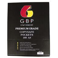 GBP Stationery Premium Copysafe Pockets Box 100 Clear A4