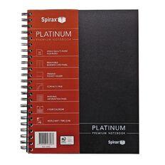 Spirax Notebook 400 Platinum Black A4