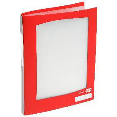 ColourHide Refillable Display Book 20 Pockets Red A4
