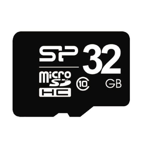 Silicon Power 32GB Class 10 MicroSD Card Black