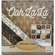 Ultimate Crafts Ooh La La Paper Pad 12in x 12in