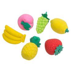 Kookie Fruits Erasers 6 Pack