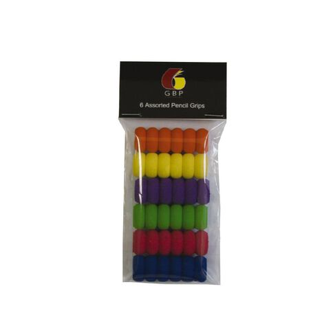 GBP Stationery Pencil Grips 6 Assorted