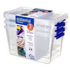 Sistema 3.5L Storage Box 3 Pack Clear