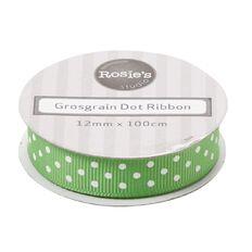 Rosie's Studio Crossgrain Dot Ribbon 1m x 12mm Assorted