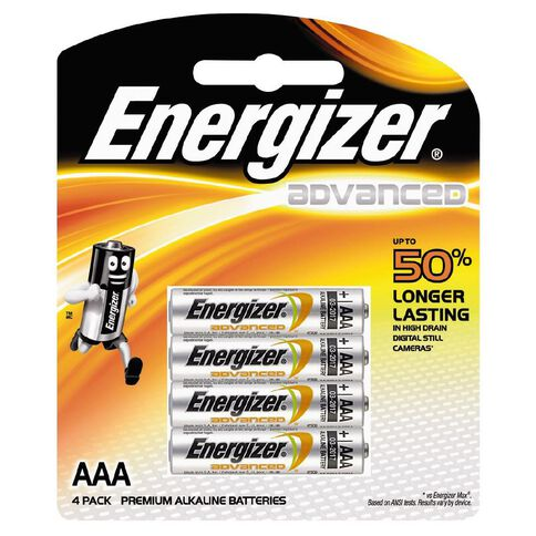 Energizer Advanced Battery AAA 4 Pack