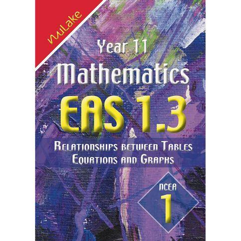 Nulake Year 11 Mathematics Eas 1.3 Equations Graphs