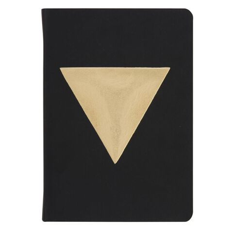 Banter Gold Tri Faux Leather Notebook A5