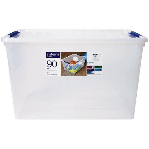 Sistema Storage Organiser 90L Clear