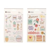 Rosie's Studio Foil Clear Stickers Pastel Pop Multi-Coloured