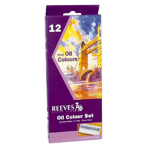 Reeves Oil Paint Set 12 Tubes