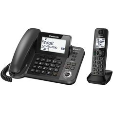 Panasonic Kx-Tgf380Azm Corded And Cordless Phone Black