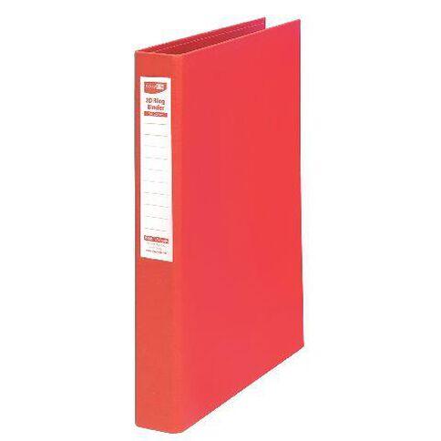 ColourHide Linen Ringbinder Red