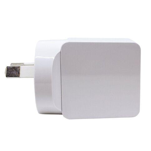 H+O USB Single 2.4A Wall Charger White