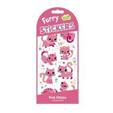 Peaceable Kingdom Stickers Furry Pink Kittens