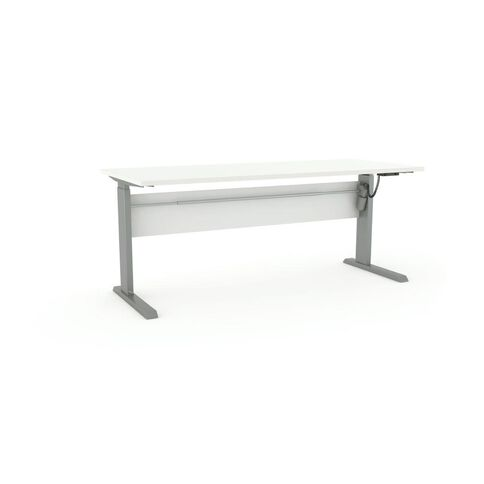 Cubit Height Adjustable Electric Desk 1800 White/Silver