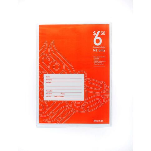 Nz Post Postage Bag $6.50 Upgradable Pi Fs Flat Red