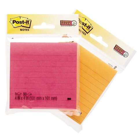 Post-It Super Sticky Lined Notes Assorted
