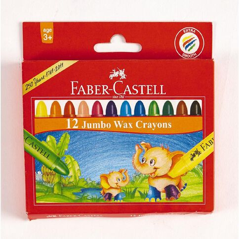 Faber-Castell Crayons Jumbo Wax 12 Pack