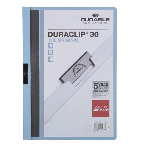 Durable Report Cover 30 Sheets Light Blue