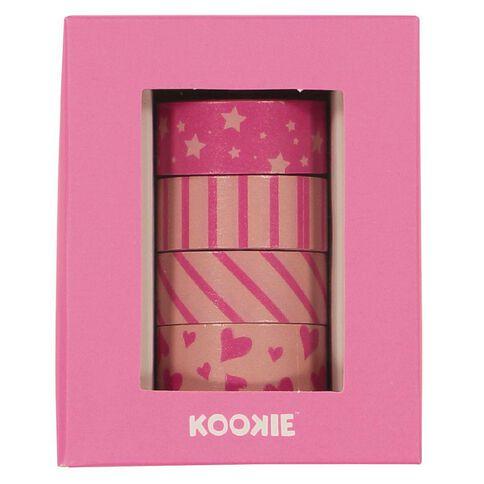 Kookie Washi Tape 4 Pack Pink