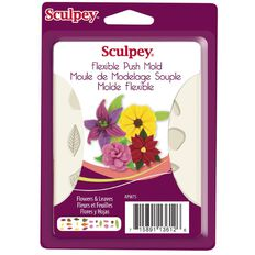 Sculpey Push Mold Flowers & Leaves