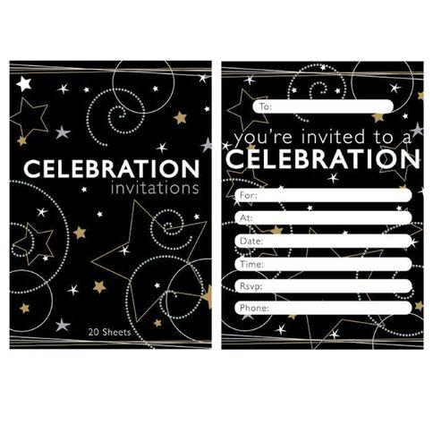 Padded Invitation 20 Sheets Per Pad Starry Celebrations