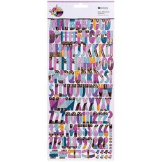 Rosie's Studio Here & Now Foil Chipboard Alphabet 137 Piece