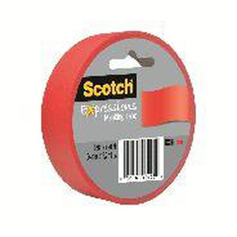 Scotch Masking Craft Tape 25mm x 18m Primary Red