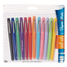 Paper Mate Flair Pens Assorted Fashion Colours Fine 12 Pack