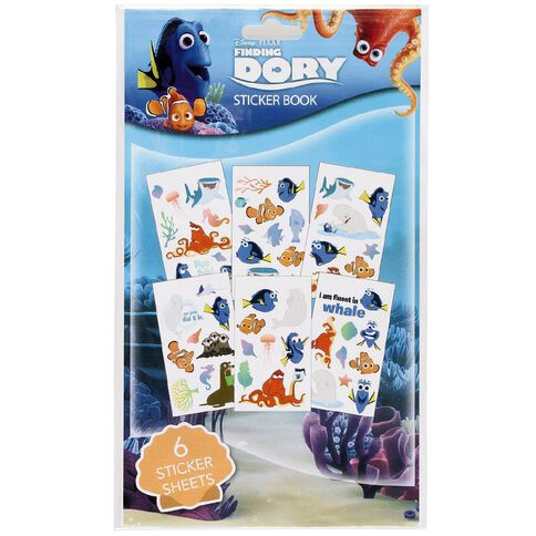 Disney Finding Dory Sticker Book 6 Page