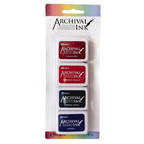 Ranger Archival Mini Ink Pads 4 Pack Autumn