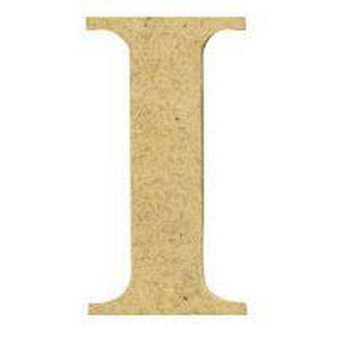 Sullivans Mdf Board Alphabet Letter 6cm I Brown