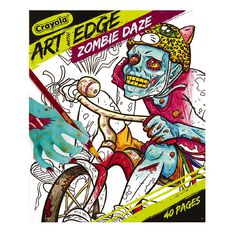 Art With Edge Zombie Colouring Book