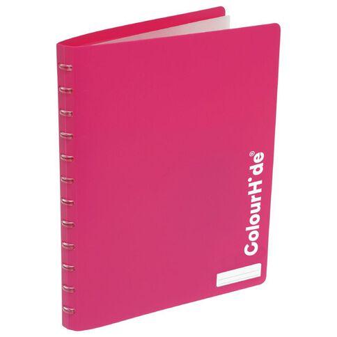ColourHide Custom Display Book 20 Pocket Pink A4