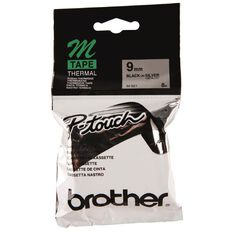 Brother Label Tape M-921 9mm Black/Silver