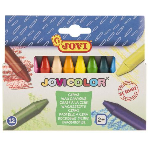 Jovi Wax Crayons 12 Pack Multi-Coloured