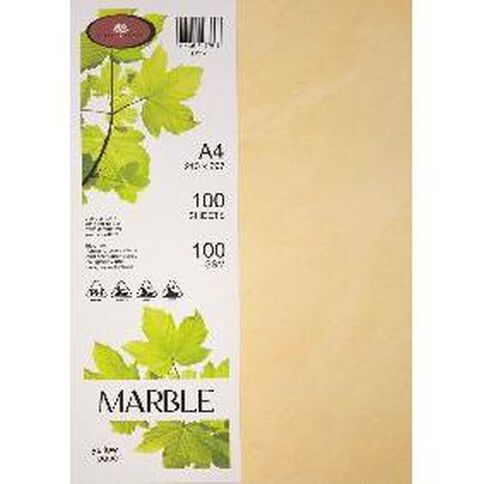 Marble Paper 100gsm 100 Pack Yellow A4