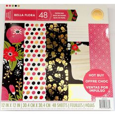 Craft Smith Paper Pad Fiorella Foil 12in x 12in 48 Sheet