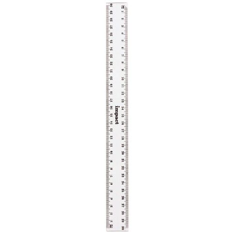 30cm Clear Plastic Ruler Clear