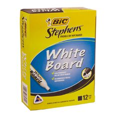 Stephens Whiteboard Marker Fine 12 Pack Black