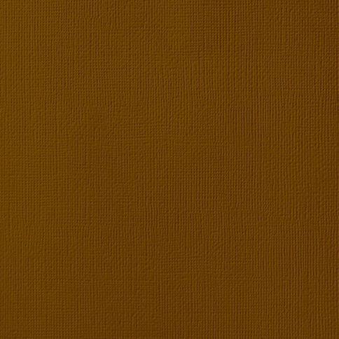 American Crafts Cardstock Textured 12 x 12 Truffle Brown