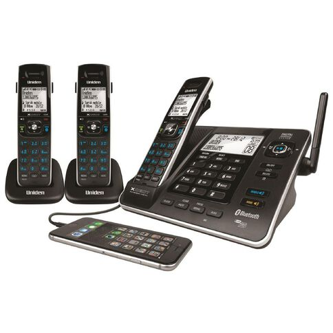 Uniden Xdect8355+2 Cordless Phone With Answer Machine Triple Black